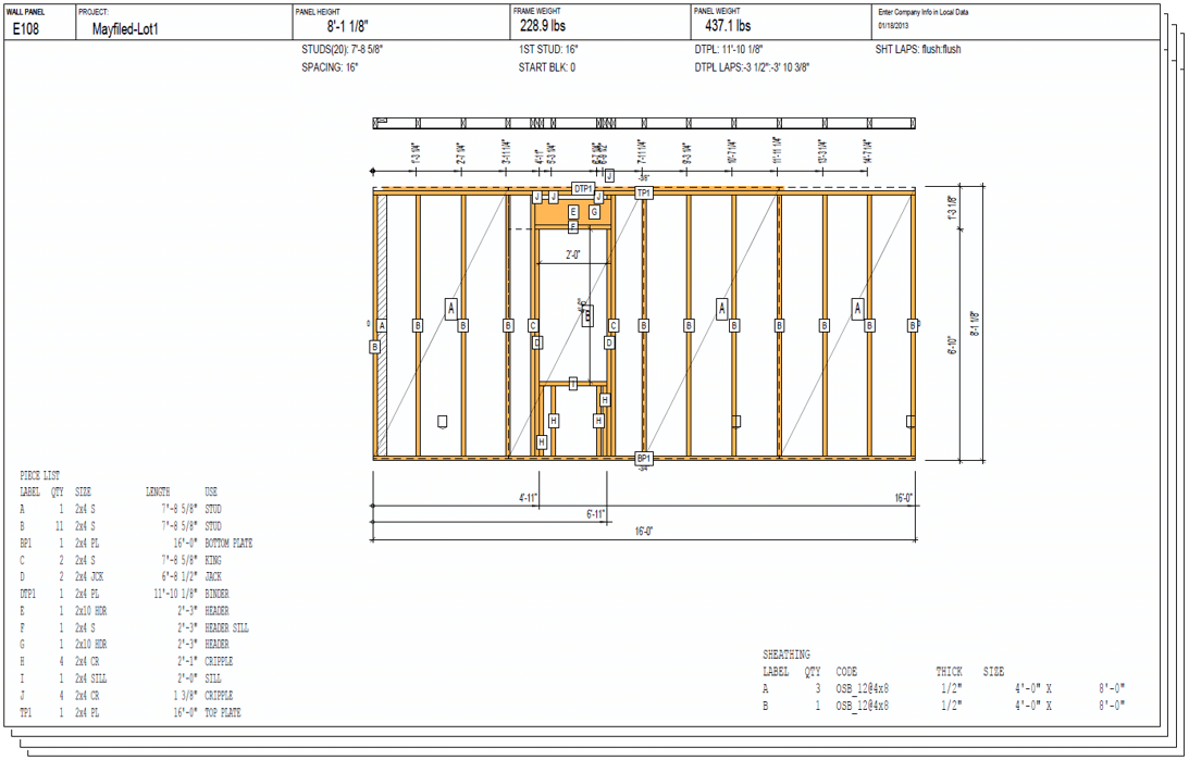 as well as the framing layout features for walls floors ceilings and roofs it also includes roof and floor truss layout tools for generating the 2d